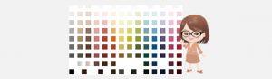 114色のカラーバリエーションから選ぶ事が出来る