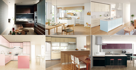 114色の扉カラーから自分だけのキッチンが作れる