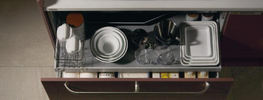 作業ゾーンごとに調理アイテムがパッと見つかる!サッとしまえる!