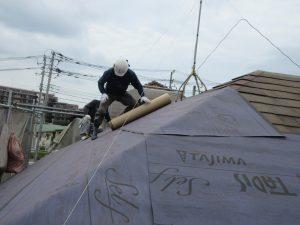 パミールの屋根表面のめくれに対する「正しい対処は葺き替えOR重ね葺き」です!