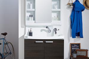 おしゃれなクリナップの洗面台「ファンシオ」