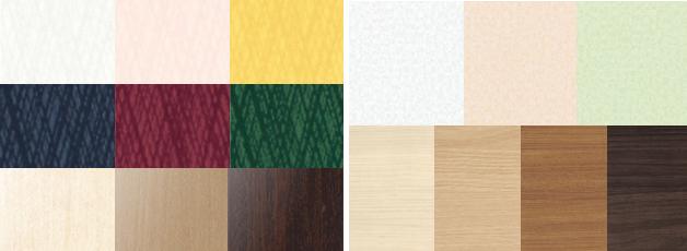 デザインは豊富に選べる!多彩なカラーバリエーション