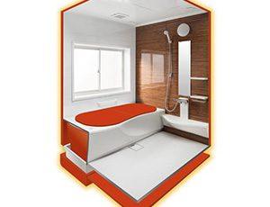 浴室全体を保温材でまるごと囲い冬もあたたかい