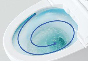 流しながら便器を洗う「トルネード洗浄」