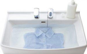 洗濯物の手洗いが楽々!洗面ボウルが広くて使用用途が多い