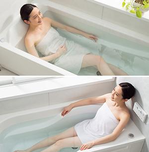 ユパティオの浴槽は好みに応じて2パターンから選べる!お掃除も自動で行ってくれる優れもの