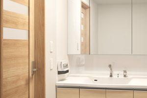 木製の洗面台