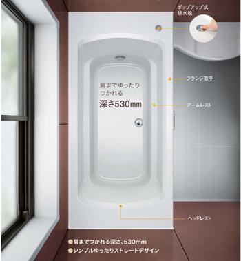 ウッドワン「システムバス」の浴槽