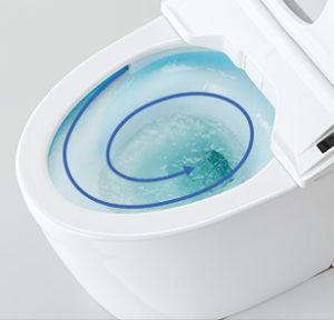 ピュアレストQRのトルネード洗浄